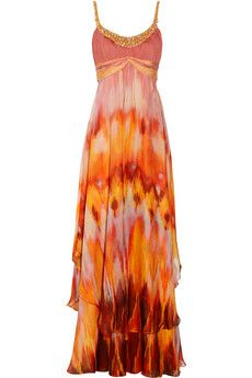 For my Mexico trip! Red Chiffon, Chiffon Gown, Evening Dresses, Formal Dresses, Bride Dresses, Long Dresses, Dress Long, Party Dresses, Tie Dye Tops