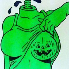 its a bit nippy outside. and spooky Arte Peculiar, Arte Punk, Trippy Painting, Arte Horror, Illustrations, Fall Halloween, Halloween 2020, Happy Halloween, Art Inspo