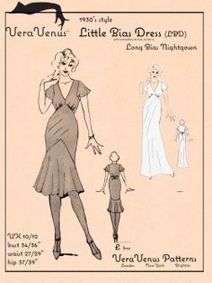 FREE Vintage 1930s Style Little Bias Dress Sewing Pattern and Tutorial