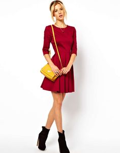 ASOS Skater Dress With Pleated Skirt on Wantering