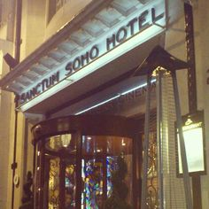 This place. Sanctum Soho Hotel, London.
