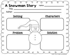 Story Structure graphic organizer included in Winter Writing for Firsties by First Grade Schoolhouse. $ Filled with FUN writing activities for the winter season.    Includes graphics by Fancy Dog Studio. http:www.fancydogstudio.com
