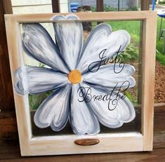 Trendy painting glass picture frames old windows ideas Old Window Art, Old Window Crafts, Old Window Screens, Old Window Panes, Old Window Projects, Art Projects, Window Frames, Old Window Ideas, Frames Decor