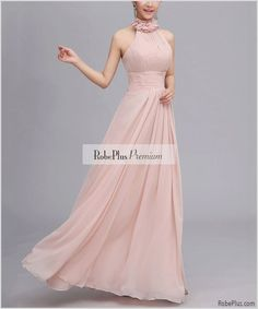 Dusty Rose Pink Bridesmaid Dress  Pink Maxi Dress  by RobePlus, $84.99