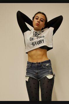 Teen girl abs