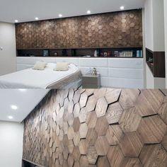 Wood Wall Design, Diy Wood Wall, Wooden Wall Panels, Wood Panel Walls, Wooden Walls, Wood Wall Paneling, Wooden Accent Wall, Accent Wall Bedroom, Bedroom False Ceiling Design