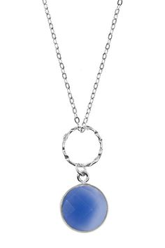 Sterling Silver Chalcedony Circle Pendant Necklace by Charlene K on @HauteLook