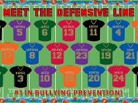 {October is National Bullying Prevention Month so we thought we'd bring you some different designs that you could use in your classroom or even school-wide!} Since it's officially football season,. Football Bulletin Boards, Bullying Bulletin Boards, Bulletin Board Paper, Teacher Bulletin Boards, Classroom Board, Sports Theme Classroom, Classroom Decor, Classroom Behavior, Classroom Posters