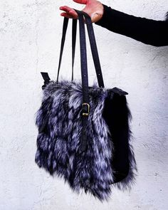 FOX & BEAVER FUR BAG #furbags #furfashion #fur #real #leatherbag #leather #woman #clothing #shoes #necklace #new #seller #accessory #accessories #sky #light #sea #sun #sunset #bag #bagpack #bags #shoulderbags #gray #black #worldwide #handmade #holiday #etsy #damiankastorianfurs
