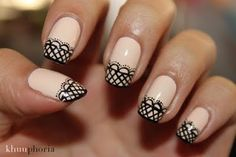 Nail art is an extension off what you wear. And best nail art can give you a lot of attention and compliments. Lace Nail Art, Lace Nails, Nail Art Designs 2016, Acrylic Nail Designs, Bridal Nails, Wedding Nails, Fabulous Nails, Creative Nails, Nail Tutorials