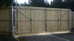 Startling Tricks: Cedar Fence On Wall front yard fence beautiful.Dog Fence Tips. Dog Fence, Wood Fence Gates, Timber Fencing, Fence Doors, Brick Fence, Front Yard Fence, Wooden Gates, Farm Fence, Wooden Fences