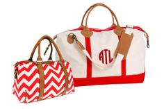 Monogram Canvas Weekend Duffle Bag & Chevron Bag by TetaApparel