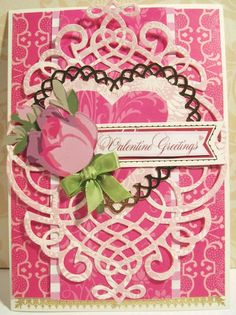 Paper collage of mostly Anna Griffin products Valentines Day Cards Handmade, Valentine Day Love, Greeting Cards Handmade, Valentine Ideas, Anna Griffin Inc, Anna Griffin Cards, Diy Crafts For Girls, Button Cards, Pretty Cards