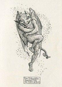 Pen and Ink demon illustration