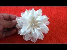 Moños para el cabello flores de fantasía en telas paso a paso - YouTube