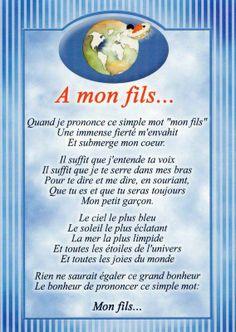 Citations option bonheur: Panneau A MON FILS.
