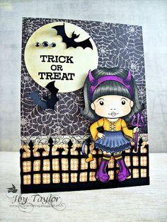 Li'l Devil Marci Halloween 1, Trick Or Treat, Devil, Card Ideas, Scrapbooking, Toys, Simple, Cards, Activity Toys