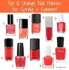 Top 10 Nail Polishes for Spring & Summer! (Pin & Save!)