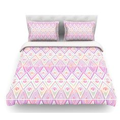 East Urban Home Soft Petal Tribal by Pom Graphic Design Featherweight Duvet Cover Size: