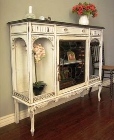 Ornamental old display cabinet