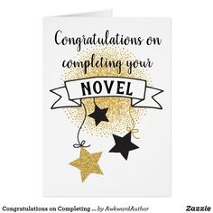 Congratulations on Completing Your Novel Card