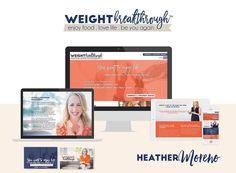 [lançamento!] Graciosa e poderosa, a Heather é uma coach cheia de energia, como se pode ver nas cores vibrantes e alegres do novo site dela! Estratégia de marca, Identidade Visual, Webdesign e Programação 💙 #lebearportfolio