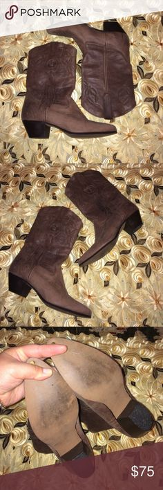 Laredo Fringe Tassel boot Worn once, minor leather scratches from storage and wear in great condition...these were well loved...dressed these with my free People clothes super stylish and cute...Price reflect brand and condition, ask any question below before purchase, will only negotiate through offer button..if the price is not a steal feel free to shop elsewhere, price is firm Laredo Shoes