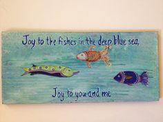 Fish Beach Sign Wall Art Wood Cutout. by ArtByDawnMcDonnell, $25.00  https://www.etsy.com/listing/191445730/fish-beach-sign-wall-art-wood-cutout?ref=shop_home_active_2