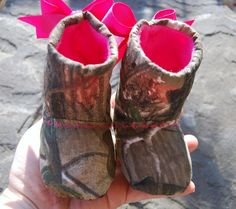Realtree camo baby infant boots/booties. #realtreecamobabyboots #camobabyboots  https://www.etsy.com/listing/167596327/realtree-camo-girls-baby-bootsshoes?ref=shop_home_active_22