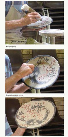 John Calver (UK) - white stoneware clay; work demo