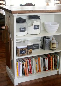Instead Of Tossing This Old Bookshelf, She Tipped It Over And Made Something Incredibly Useful http://www.wimp.com/clever-ways-repurpose-old-bookshelf/