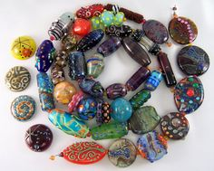 one more picture of all the focals and cabochons together.