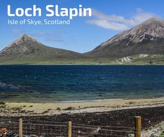 Discover the beautiful Loch Slappin on the road to Elgol. It is surrounded by 2 iconic summits on the Isle of Skye: Bla Bheinn and Beinn Na Caillich Scotland Hiking, Places Ive Been, Mountains, Travel, Beautiful, Viajes, Destinations, Traveling, Trips