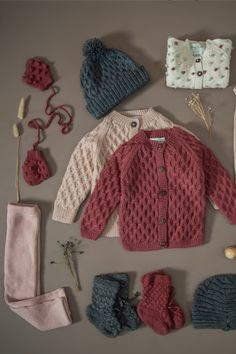 Knitted Baby Clothes, Organic Baby Clothes, Knitting For Kids, Hand Knitting, Baby Girl Fashion, Kids Fashion, Designing Clothes, Newborn Crochet Patterns, Baby Skin