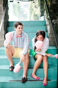 sweet cotton candy engagement session | Love, The Nelsons