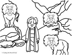 Daniel In The Lions Den (Coloring Page) Coloring pages are a great way to end a Sunday School lesson. They can serve as a great take home activity. Or sometimes you just need to fill in those last … Preschool Bible Lessons, Bible Activities, Bible Story Crafts, Bible Stories, Sunday School Lessons, Sunday School Crafts, Bible Heroes, Daniel And The Lions, Coloring Pages Inspirational