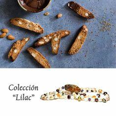"""Una delicia de collar largo de perlas, ópalo y cristal de roca que recuerda al pan con chocolate de la colección """"LILAC"""" by POUSA DURANY."""