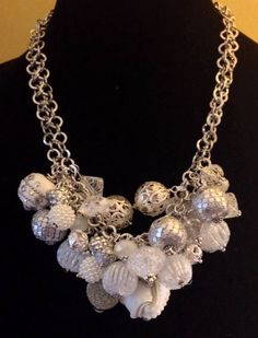 White & Silver Necklace $40.00