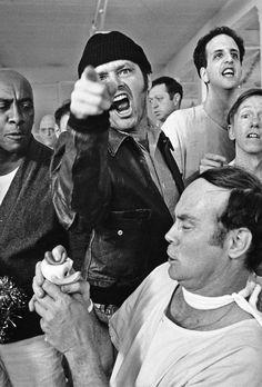 """Jack Nicholson chocking Louise Fletcher in """"One Flew Over ..."""