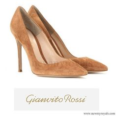 GIANVITO ROSSI Suede pumps: On February 21, 2017, King Willem-Alexander and Queen Maxima of The Netherlands visited the Krimpen aan den IJssel town in the western The Netherlands.