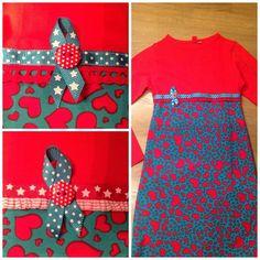 Tshirt jurkje met ribstof (Lien meisjeskleding)