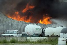 FIRE RAGES: Several explosions and a fire rocked the Green Energy Products biodiesel plant in Sedgwick, Kan., Tuesday. No injuries were immediately reported. The cause of the incident is under investigation. (Travis Heying/MCT/Zuma Press)