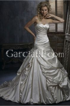 Trumpet/Mermaid Sweetheart Floor-length Satin Wedding Dress