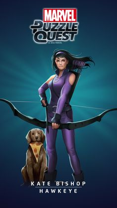 #Hawkeye #Fan #Art. (HAWKEYE- KATE BISHOP IN: MARVEL'S PUZZLE QUEST!) BY: AMADEUS CHO! (THE * 5 * STÅR * ÅWARD * OF: * AW YEAH, IT'S MAJOR ÅWESOMENESS!!!™) [THANK U 4 PINNING!!!<·><]<©>ÅÅÅ+(OB4E)(IT'S THE MOST ADDICTING GAME ON THE PLANET, YOU HAVE BEEN WARNED!!!)