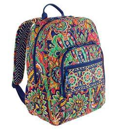 Vera Bradley CAMPUS BACKPACK Large Back Pack Bag ~ VENETIAN PAISLEY ~ New/NWT #VeraBradley