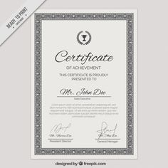Pinterest o catlogo mundial de ideias ornamental certificate template free vector yelopaper Image collections