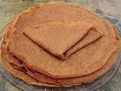 De nouvelles crêpes... Elles sont délicieuses et originales!   Aujourd'hui aux farines de souchet, de riz et d'arrow-root.         I...