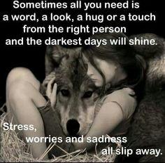 Stress, worries and sadness all slip away.