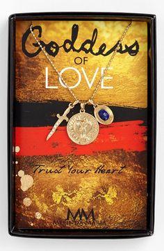 Melinda Maria 'Goddess' Cluster Pendant Necklace