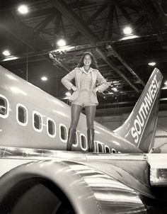 From 1977:  One of our Flight Attendants posing with N28SW, a 737-200 Advanced.  Read the full story here: http://www.blogsouthwest.com/blog/flashback-fridays-origins-boeing-737-part-two